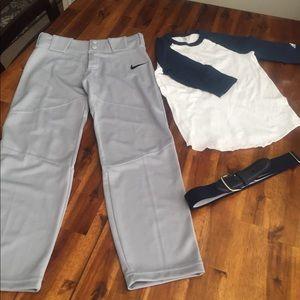 Boys Baseball Uniform Size Small Nike And Adidas